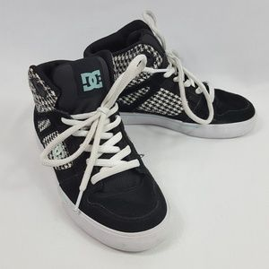 DC Spartan High Top Running Shoes Black Youth 4